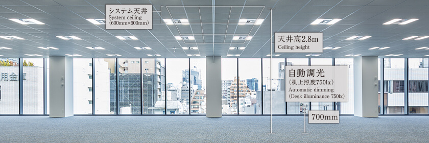 The rental office floor of PMO Akihabara kita (December 2018)
